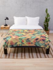 Abstract Geometry Throw Blanket