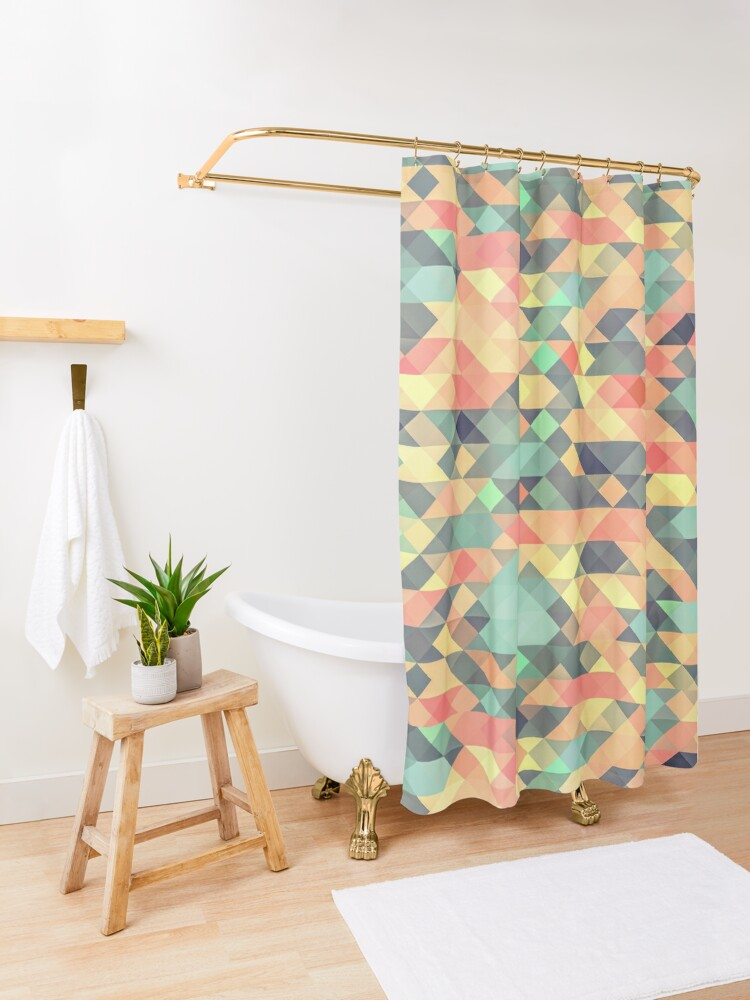 Alternate view of Abstract Geometry Shower Curtain
