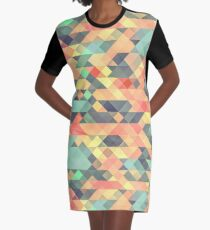 Abstract Geometry Graphic T-Shirt Dress
