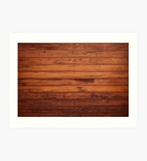 Wooden Boards - Realistic Elements Art Print