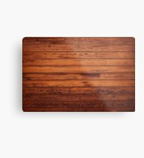 Wooden Boards - Realistic Elements Metal Print