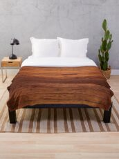 Wooden Boards - Realistic Elements Throw Blanket