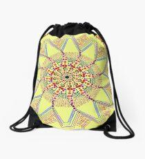 Sunflower Star  Mandala Drawstring Bag