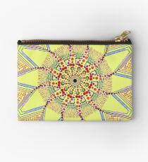 Sunflower Star  Mandala Zipper Pouch