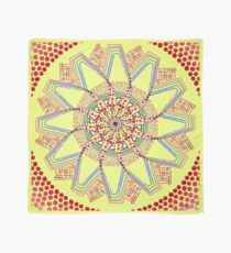 Sunflower Star  Mandala Scarf