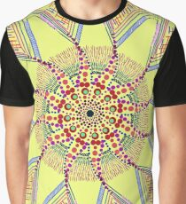 Sunflower Star  Mandala Graphic T-Shirt