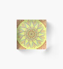 Sunflower Star  Mandala Acrylic Block