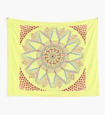 Sunflower Star  Mandala Wall Tapestry