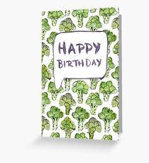 Tarjeta de felicitación Brócoli feliz cumpleaños