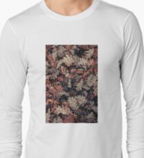Dried Autumn Leaves - HD Nature Long Sleeve T-Shirt
