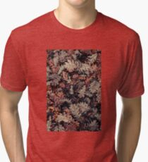 Dried Autumn Leaves - HD Nature Tri-blend T-Shirt