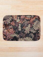 Dried Autumn Leaves - HD Nature Bath Mat