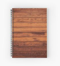 Wooden Boards - Realistic Elements Spiral Notebook