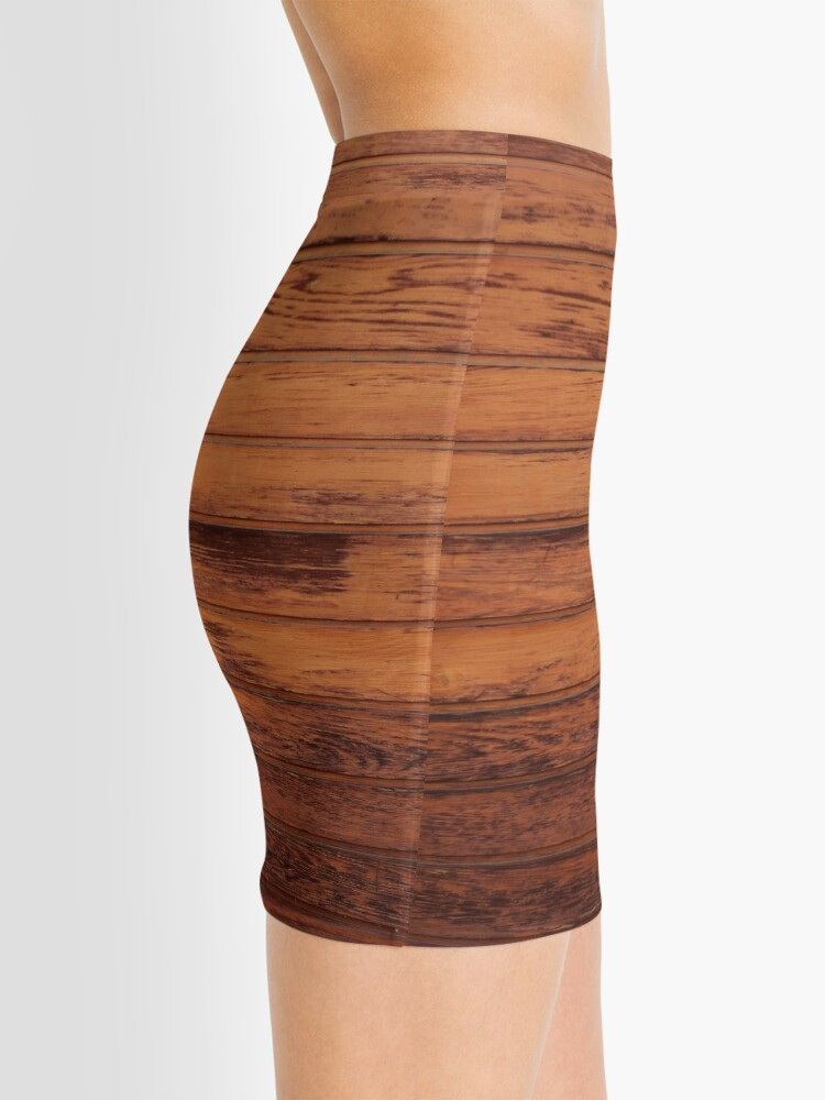 Alternate view of Wooden Boards - Realistic Elements Mini Skirt