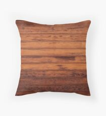 Wooden Boards - Realistic Elements Throw Pillow