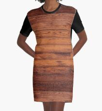 Wooden Boards - Realistic Elements Graphic T-Shirt Dress
