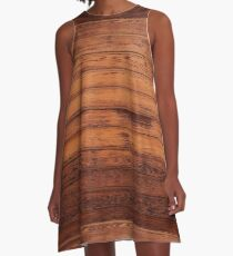 Wooden Boards - Realistic Elements A-Line Dress