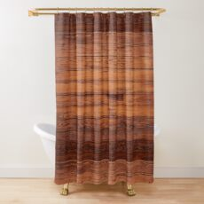 Wooden Boards - Realistic Elements Shower Curtain