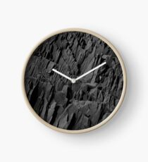 Black Rocks - Nature Elements Clock
