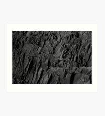 Black Rocks - Nature Elements Art Print