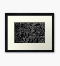 Black Rocks - Nature Elements Framed Print