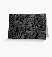 Black Rocks - Nature Elements Greeting Card