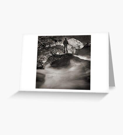 rock shadow Greeting Card