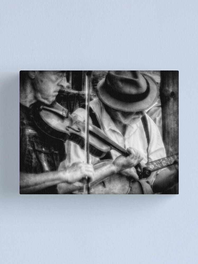 Alternate view of Bluegrass Players Canvas Print