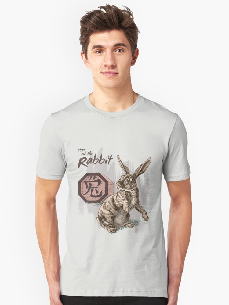 Alternate view of Year of the Rabbit by Stephanie Smith Slim Fit T-Shirt