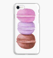 Watercolor macarons iPhone Case/Skin
