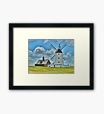Lytham Windmill and Lifeboat Station . Framed Print