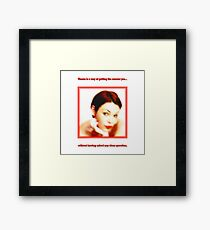 Charm Of A Neighbor Framed Print
