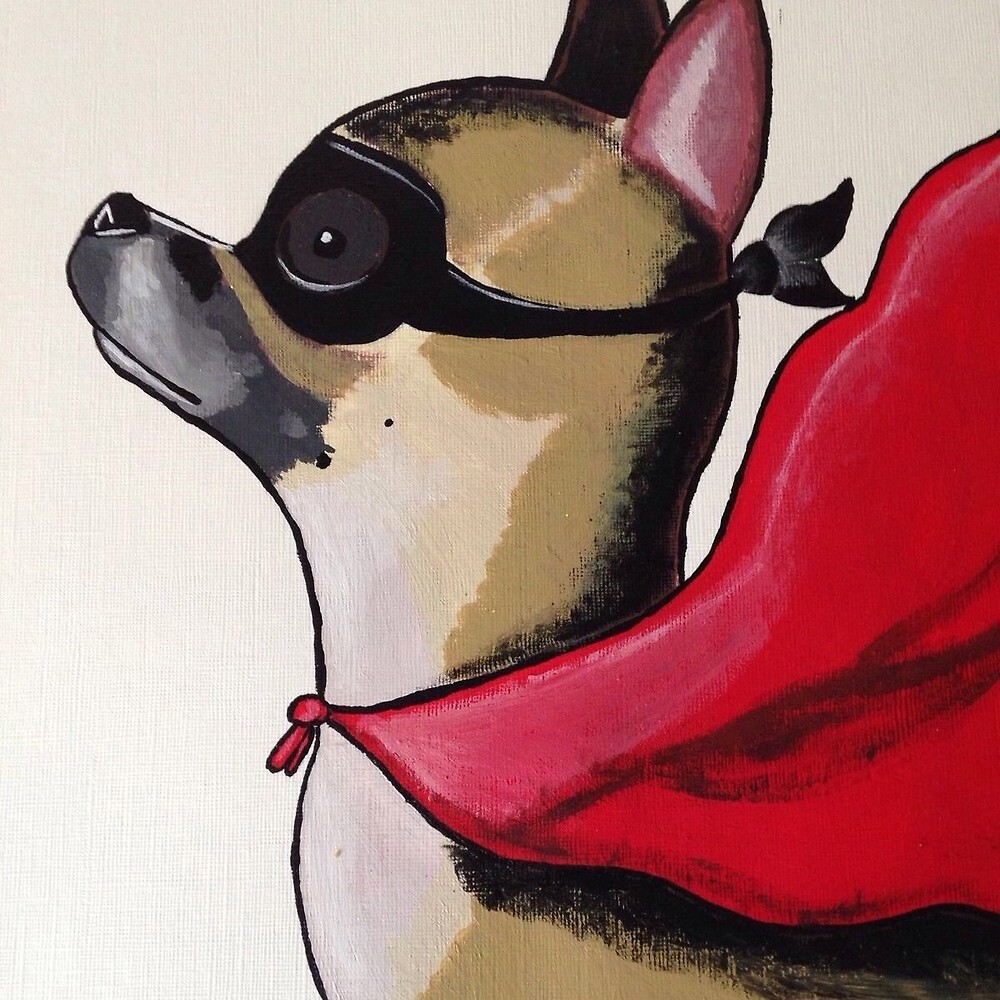 Frankin Bro Dog by Emily Richards