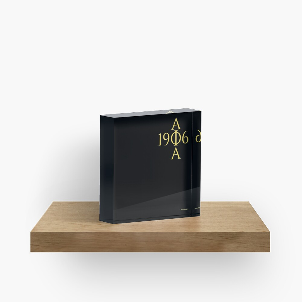 for ALPHAS only Acrylic Block