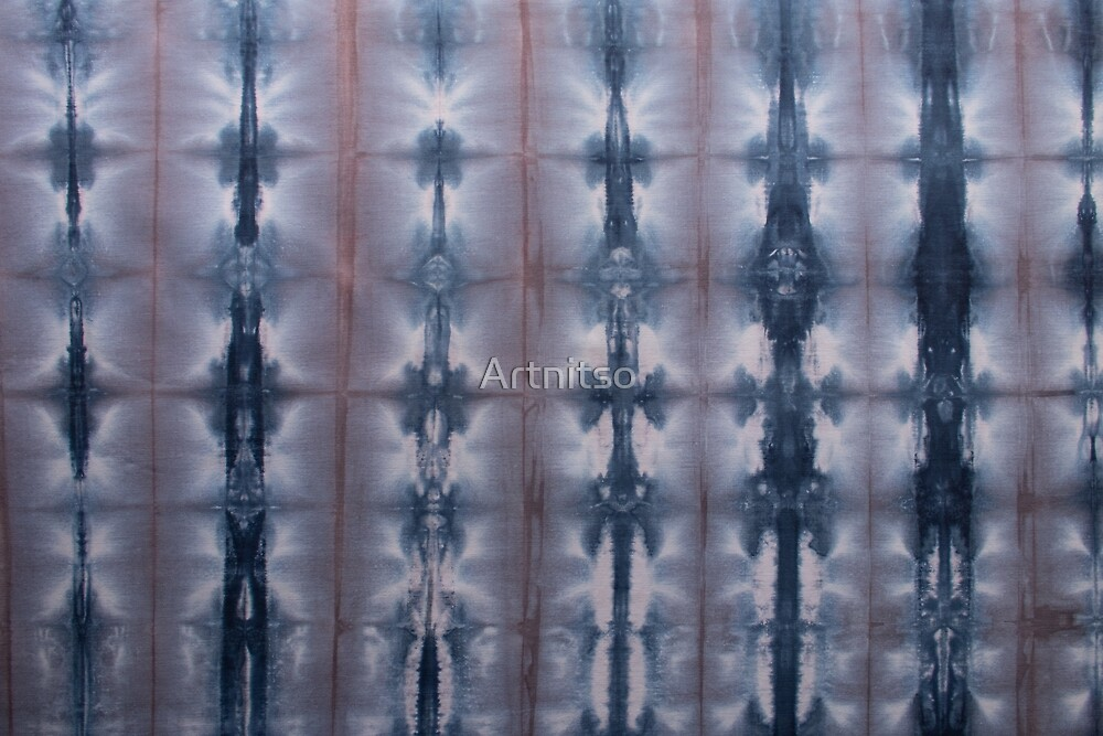SKU547 Shibori Style - Blue Pink 2 by Artnitso