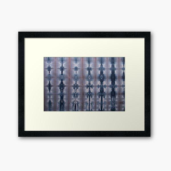 SKU547 Shibori Style - Blue Pink 2 Framed Art Print