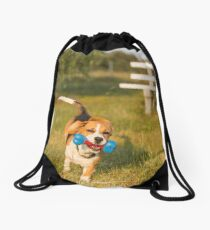 Racing Roxie.... Beautiful Beagle... Drawstring Bag