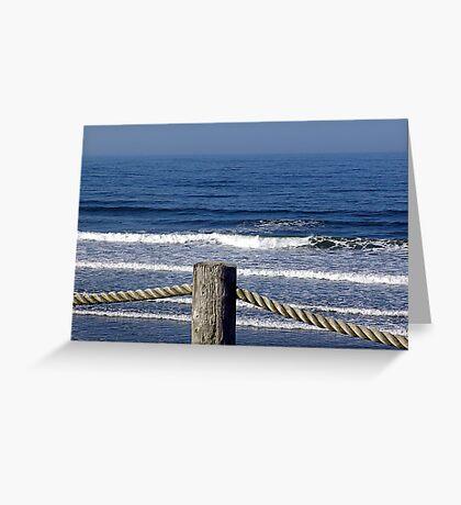 Morning on a Foggy Sea Greeting Card