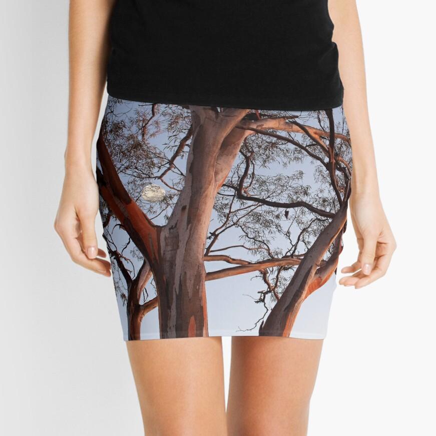 Gum at Coolgardie Sunrise with Moon Mini Skirt