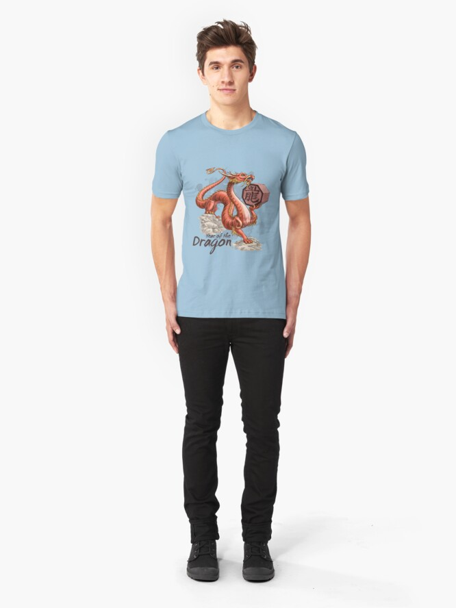 Alternate view of Year of the Dragon Slim Fit T-Shirt