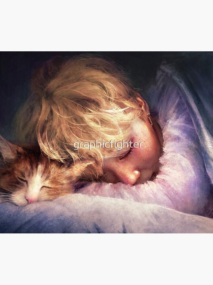 Der Junge mit der Katze von graphicfighter