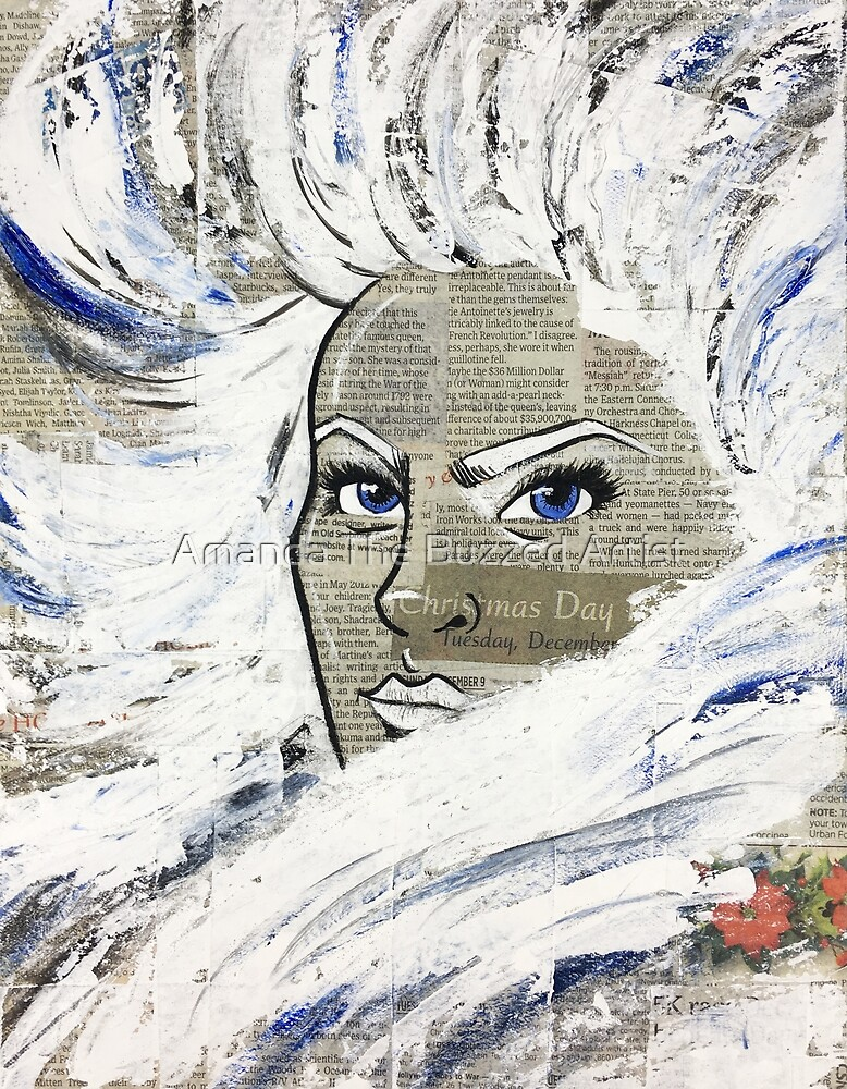 Snow Queen | Acrylic Art Print by Amanda The Buzzed Artist