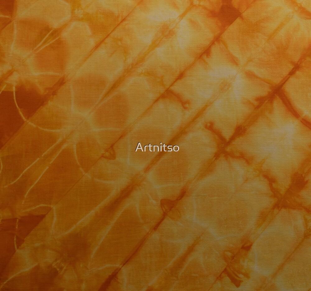 SKU591 Shibori Style - Orange Yellow 6 by Artnitso