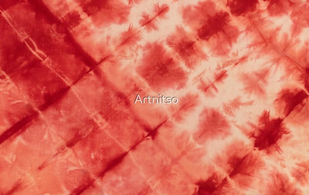 SKU594 Shibori Style - Red 1 by Artnitso