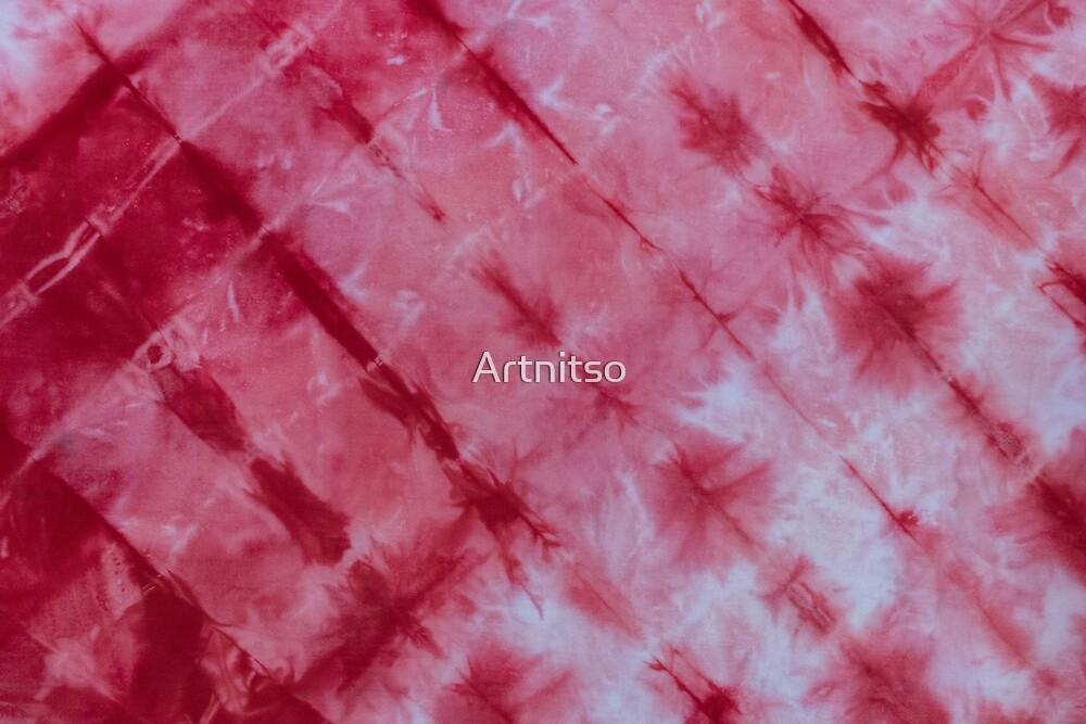 SKU596 Shibori Style - Red 5 by Artnitso