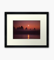 Moonset at Point of Arches Framed Print