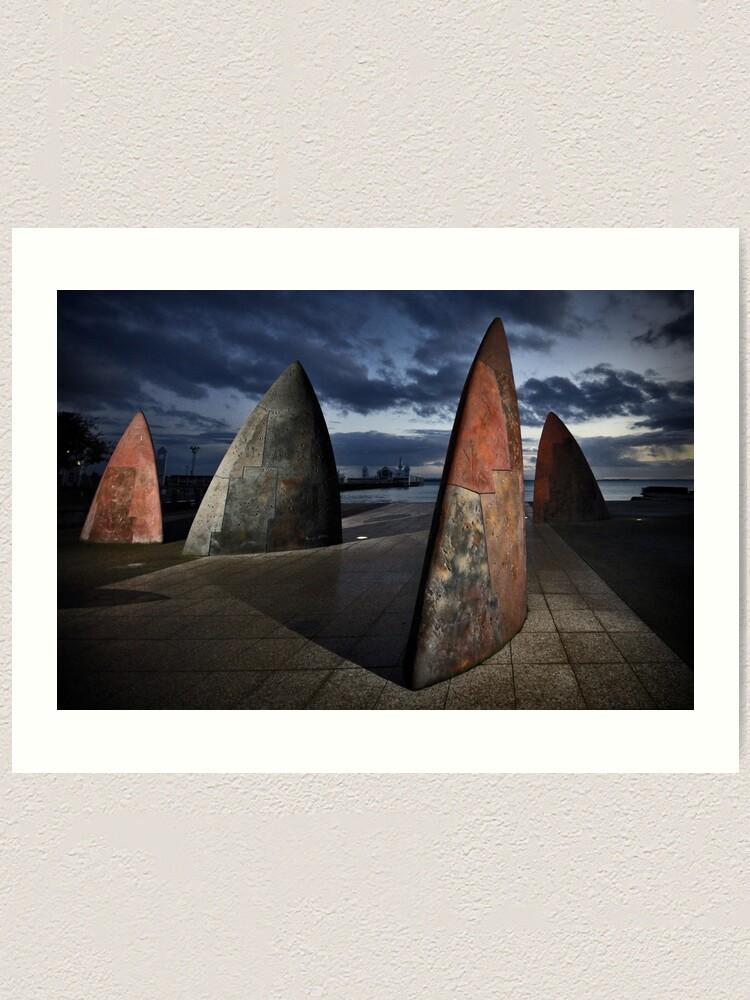 Alternate view of Morning Sails Art Print