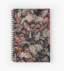 Dried Autumn Leaves - HD Nature Spiral Notebook