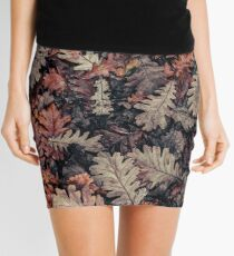 Dried Autumn Leaves - HD Nature Mini Skirt
