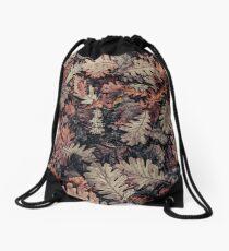 Dried Autumn Leaves - HD Nature Drawstring Bag